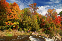Webster Falls (1). Waterfall in Webster Falls, Ontario Stock Image