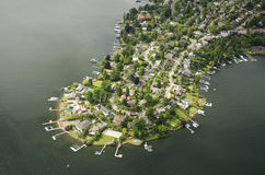 Webster Point from the Air Royalty Free Stock Photography