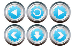 Webstise buttons Royalty Free Stock Images