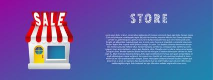 Webstore rabatt Verkauf Vektor flach steigung fahne Lizenzfreie Stockfotos