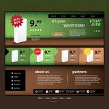 Webstore Template Stock Image