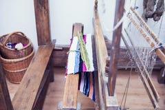 Webstuhl mit Thread Stockfotografie