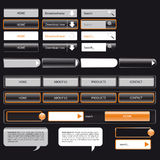 Webtemplate black and orange Stock Photo