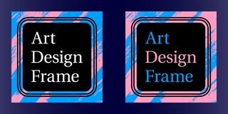 Vector Art frame, Art graphics in blue-pink colors. WebVector Art frame, Art graphics in blue-pink colors. Black template of frame with color brush, element for Stock Images