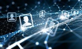 Webverbinding en mededeling Stock Foto's