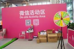 WeChat aktywny teren, Shenzhen konwencja i Powystawowy centrum, Zdjęcia Royalty Free