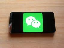 WeChat app royalty-vrije stock afbeelding