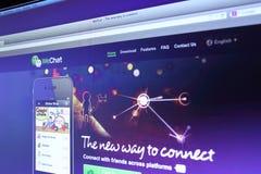 WeChat webpage Obraz Stock