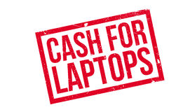 Wechseln Sie für Laptopstempel ein Stockfoto