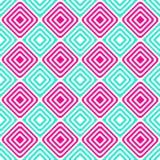 Wechselndes blaues Rosa quadriert nahtloses Muster Stockbild