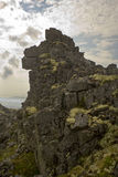 Wechselseitiger Felsen Stockfoto