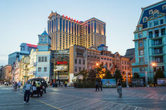 Wechselstrompromenade und -kasinos Stockbilder