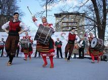 Wecken mit horo - bulgarischer traditioneller Tanz Stockbilder