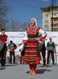 Wecken mit horo - bulgarischer traditioneller Tanz Lizenzfreie Stockbilder