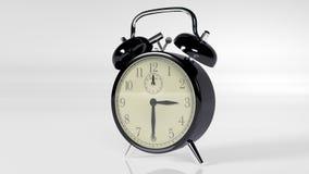 Wecker, Instrument der Zeit auf Weiß Stockfotos