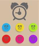 Weckerikone mit Farbveränderungen, Vektor Stockbild
