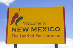 Wecome to New Mexico sign Royalty Free Stock Photography