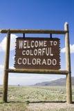 Wecome vers le Colorado Photo libre de droits