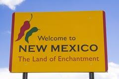 Wecome zum Mexiko-Zeichen lizenzfreie stockfotografie