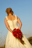 Wed Bride Flowers royalty free stock photography