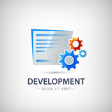 Wed, design development vector logo, icon with Royalty Free Stock Photos
