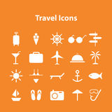Wed icons vector collection of traveling Royalty Free Stock Images