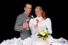 Wed neuf les couples image libre de droits