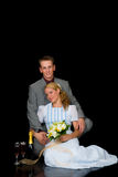 Wed neuf les couples image stock