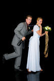 Wed neuf les couples images stock
