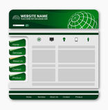 Wed template. Vector editable website design on white Stock Photos