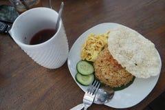 Wedang Uwuh und Fried Rice Lizenzfreie Stockbilder