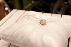Weddding Ring on Pillow Royalty Free Stock Photo