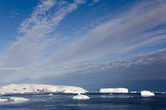 南极洲- Weddell海运冰山 库存图片