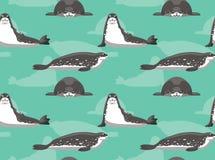 Weddell Seal Background Seamless Wallpaper. Animal Wallpaper EPS10 File Format Stock Photo