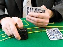 Weddenschap bij het casino stock foto