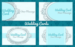 Weddiing card in vintage style Stock Photography