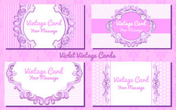 Weddiing card in vintage style Royalty Free Stock Images