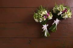 2 wedding букета Стоковые Изображения