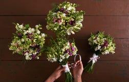 4 wedding букета Стоковое Изображение