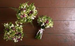 3 wedding букета Стоковые Изображения RF