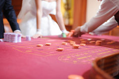 Wedding в казино стоковые изображения rf