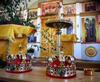 Wedding в русской церков Стоковое Изображение