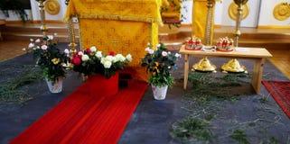 Wedding в русской церков Стоковая Фотография