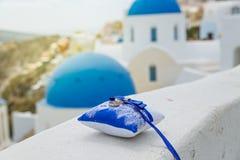 Wedding в Santorini стоковые фотографии rf