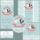Wedding граница Пейсли withf шаблона дизайна, hea свадьбы шаржа бесплатная иллюстрация