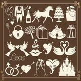 Wedding значки дизайна плоские для сети и Mobile.Vector Стоковые Изображения