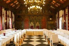 Wedding интерьер в средневековом стиле Стоковые Фото