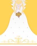Wedding или Bridal приглашение ливня иллюстрация вектора