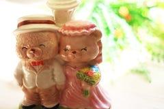 Wedding керамический медведь Стоковая Фотография RF
