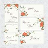 Wedding комплект с розами Стоковые Изображения RF